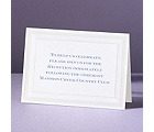 Pearlized Borders - Reception Card