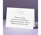 Silver Rings - Reception Card