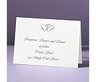 Silver Hearts - Reception Card