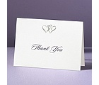Silver Hearts - Thank You Card and Envelope