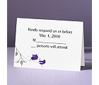 Rose Shine with Purple Foil Roses - Response Card and Envelope