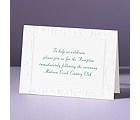 Loving Swirls - Reception Card