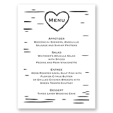 Sweetly Carved - Menu Card