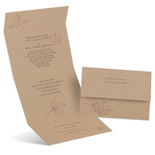 Simply Autumn Seal and Send Brown Wedding Invitation