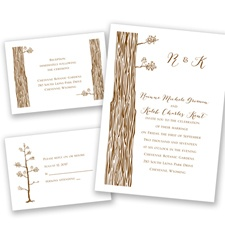Woods and Whimsy Separate and Send Wedding Invitation