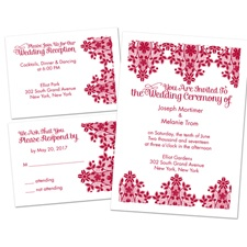 Lace Lining Separate and Send Wedding Invitation