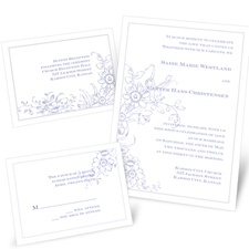 Love in Abundance Separate and Send Wedding Invitation