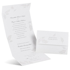Pearl Leaves Seal and Send Wedding Invitation