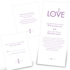 Love Spell Separate and Send Wedding Invitation