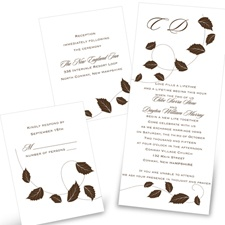 Autumn Breeze Separate and Send Fall Wedding Invitation