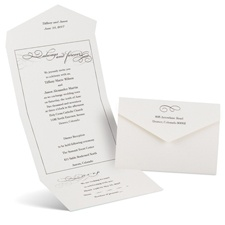 Old-Fashioned Style Seal and Send Black Wedding Invitation
