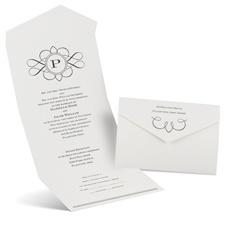 Love Declared Seal and Send Black Wedding Invitation