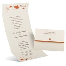 Copper Creations Seal and Send Fall Wedding Invitation