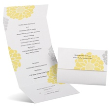 Bright Blooms Seal and Send Wedding Invitation