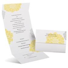 Bright Blooms Seal and Send Wedding Invitation