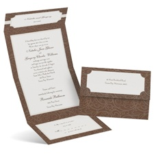 Graceful Line Seal and Send Wedding Invitation