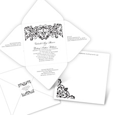 Damask Band Seal and Send Wedding Invitation
