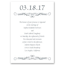 Calligraphy Perch Thermography Wedding Invitation