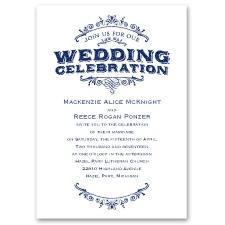 Vintage Allure Thermography Wedding Invitation