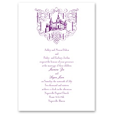 Fairy Tale Romance Thermography Wedding Invitation