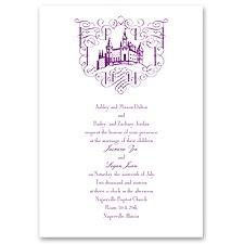 Fairy Tale Romance Thermography Wedding Invitation