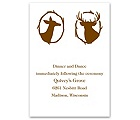 Deer Silhouettes - Reception Card