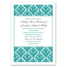 Damask Diamonds Wedding Invitation