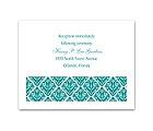 Damask Diamonds - Reception Card
