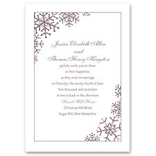 Snowflake Sensation Wedding Invitation
