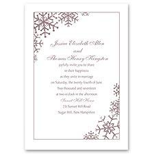Snowflake Sensation Wedding Invitation