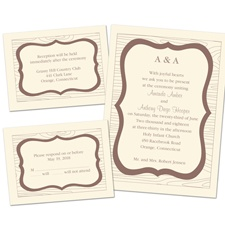 Wooden Crest Ecru Separate and Send Wedding Invitation