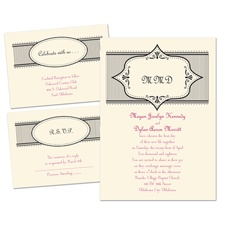 Simply Chic - Ecru - Separate and Send Invitation