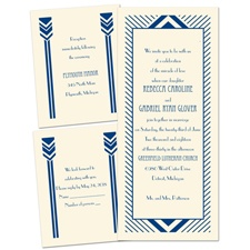 Chevron Pillars - Ecru - Separate and Send Invitation