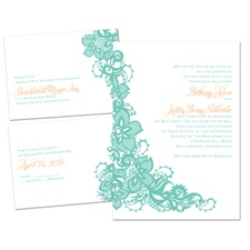 Lovely Lace Separate and Send Wedding Invitation