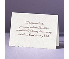 Parchment Deckle - Reception Card