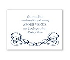 Framed in Swirls - Reception Card