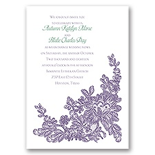 Lace Detail Wedding Invitation