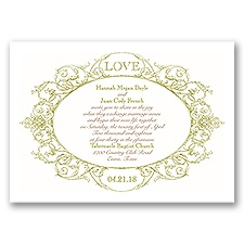 Vintage Love Wedding Invitation