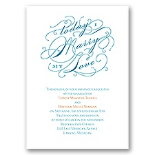 My Love Thermography Wedding Invitation