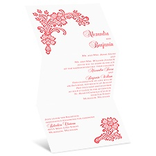 Lacy Floral Wedding Invitation