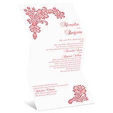 Lacy Floral Wedding Invitation