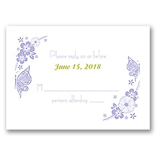 Flowers and Butterflies - Response Card
