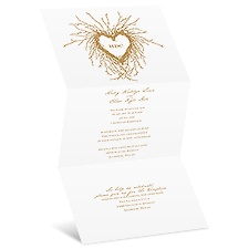 Natural Love Wedding Invitation