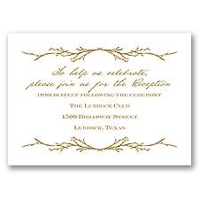 Natural Love - Reception Card