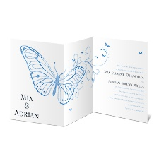 Butterfly Journey Wedding Invitation