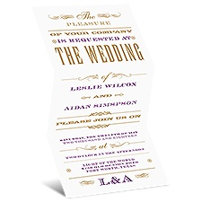 Good Company Gold Wedding Invitation