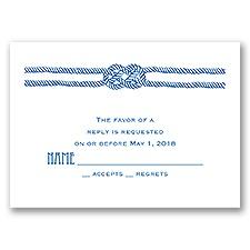Nautical Love Knot - Response Card