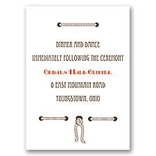Horseshoe Heart - Reception Card
