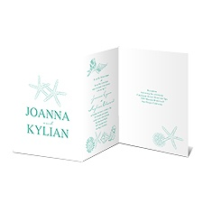 Starfish Fancy Wedding Invitation