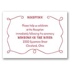 Hidden Love - Reception Card